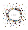 a group of people shaped as a chat icon vector image vector image