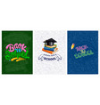 back to school backgrounds set vector image vector image