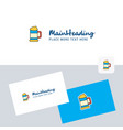beer glass logotype with business card template vector image vector image