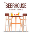 beer house furniture pub beery party vector image vector image