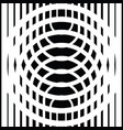 black and white circular lines vector image vector image
