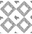 black pattern with rhombuses vector image