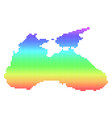 bright pixel black sea map vector image vector image