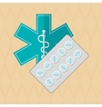 caduceus icon design vector image vector image