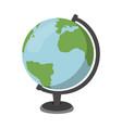 cartoon globe icon schools supplies isolated vector image vector image