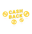 cashback icon with isometric cent vector image