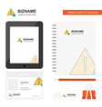 caution business logo tab app diary pvc employee vector image vector image
