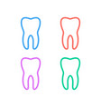 clean tooth line icon set teeth linear style sign vector image