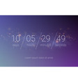 countdown clock timer web site template design vector image