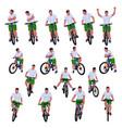 cyclist set 012 vector image vector image