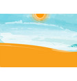 desert landscape with blue sky cloud and sun vector image vector image