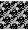 Detailed seamless pattern with octopus vector image vector image