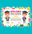 diploma certificate vector image vector image