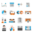 Elections And Voting Icons Set vector image vector image