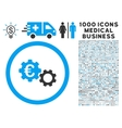 Euro Mechanics Icon with 1000 Medical Business vector image vector image