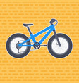 fat bike in flat style vector image vector image