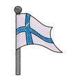 finland flag emblem vector image