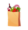fresh food in a paper bag vector image vector image