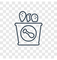 fried chicken concept linear icon isolated on vector image