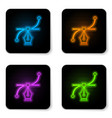 glowing neon bezier curve icon isolated on white vector image