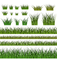 Green grass seamless pattern and bushes nature vector image vector image