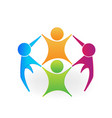 group teamwork business meeting icon vector image vector image