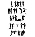 groups of business people vector image vector image