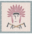 grunge Native American chief man in tribal vector image vector image