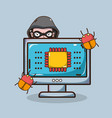 hacker and security system technology vector image vector image