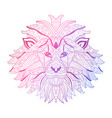 hand drawn neon lion vector image