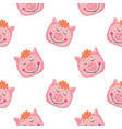 hand-drawn with pig in a vector image vector image