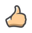 hand thumb up gesture icon cartoon vector image