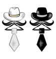 hat and tie vector image