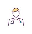 healthcare worker rgb color icon vector image vector image