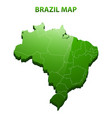 highly detailed three dimensional map of brazil vector image vector image