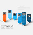 infographic timeline report template with photos vector image vector image