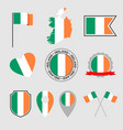 ireland flag icons set symbols flag of vector image vector image