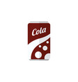 isolated soda flat icon fizzy drink vector image