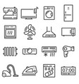 line household appliances icons set vector image vector image
