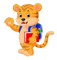 little tiger goes to school vector image