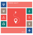 location icon symbol elements for your design vector image