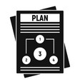 management plan icon simple style vector image vector image
