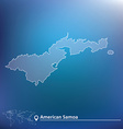 Map of American Samoa vector image vector image
