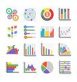modern infographics flat icons vector image vector image