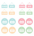 open and closed sign in pastel colors vector image