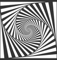 optical spiral illusion black and white vector image vector image