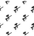 paintball marker gun pattern flat vector image vector image