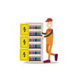 professional electrician in vector image