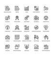 project management line icons set 12 vector image vector image