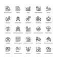 project management line icons set 12 vector image